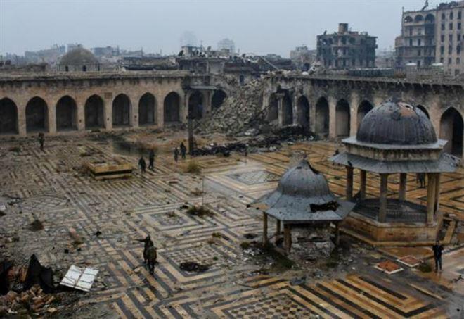La moschea di Aleppo oggi
