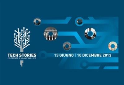 Il poster della mostra per i 150 anni del Politecnico di Milano