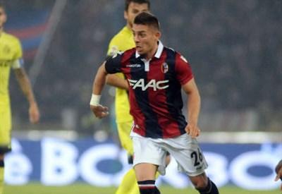 Il francese Anthony Mounier, 28 anni, attaccante del Bologna (INFOPHOTO)