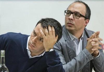 Matteo Renzi con Davide Faraone (LaPresse)