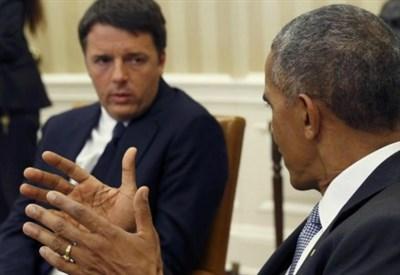 Matteo Renzi e Barack Obama (LaPresse)