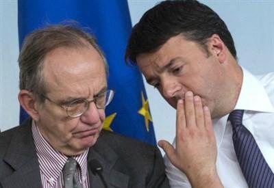 Padoan e Renzi (LaPresse)
