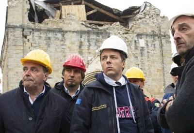 Matteo Renzi nelle zone colpite dal terremoto