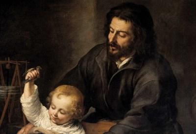 E. Murillo, Sacra Famiglia dell'Uccellino (particolare, 1650) (Immagine dal web)
