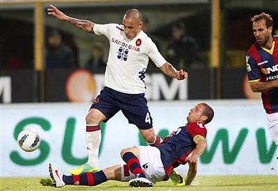 Radja Nainggolan, centrocampista del Cagliari (Infophoto)