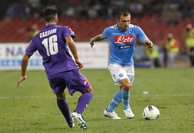 Un precedente di Fiorentina-Napoli (Infophoto)