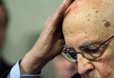 Il capo dello Stato Giorgio Napolitano (Infophoto)