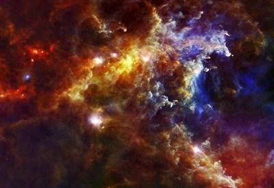 La nebulosa Rosetta ripresa dall'Osservatorio spaziale Herschel (cc Esa)