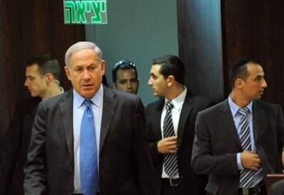 Netanyahu nella Knesset, il parlamento israeliano (InfoPhoto)