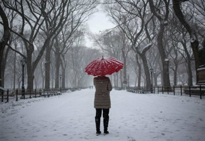 New York sotto la neve