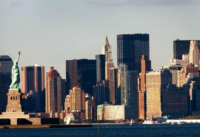 Skyline di New York nel 2002 (LaPresse)