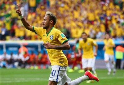 Neymar, 22 anni (dal profilo Twitter ufficiale @FIFAWorldCup)