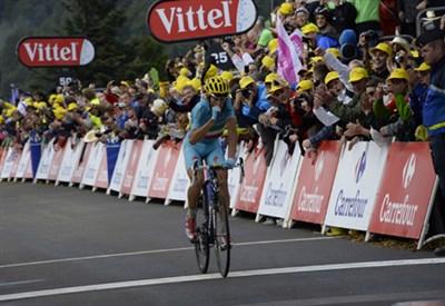 Vincenzo Nibali all'arrivo della tappa (da Facebook)