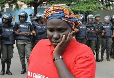 Manifestazione per le studentesse rapite da Boko Haram (LaPresse)
