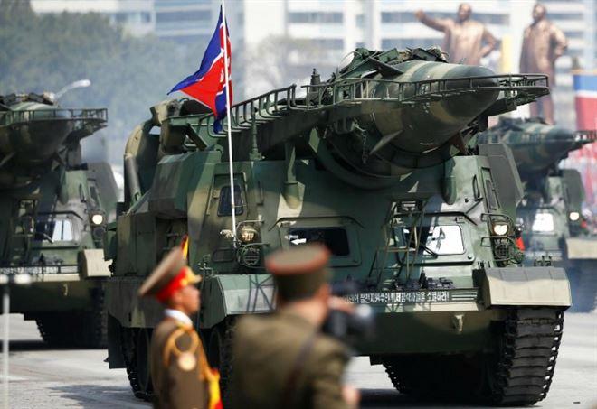 Parata militare nordcoreana (LaPresse)
