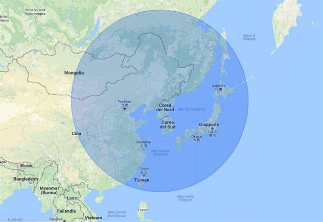 L'area di una possibile terza guerra mondiale