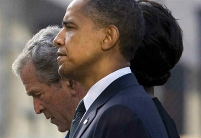 George W. Bush con Barack Obama (Infophoto)