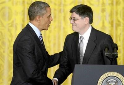 Barack Obama e Jacob Lew (Infophoto)