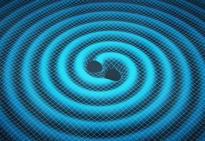 Un rendering delle onde gravitazionali (da: www.media.inaf.it, credit Swinburne Astronomy Production/JPL)