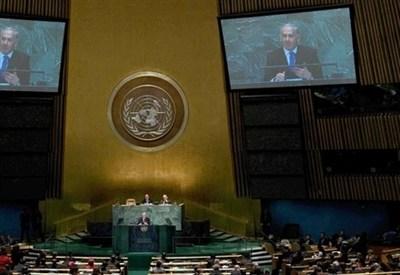 Benjamin Netanyahu parla all'Onu. Il voto gli darà torto (InfoPhoto)