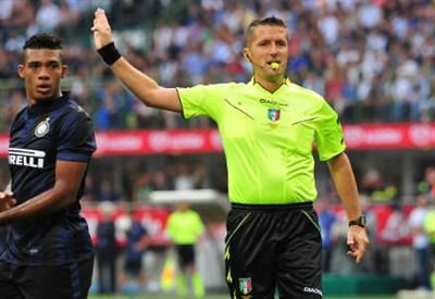 Daniele Orsato, 39 anni, arbitro della sezione di Schio (INFOPHOTO)