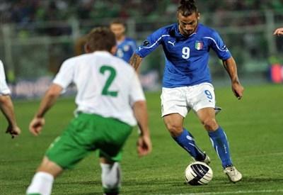 Osvaldo con la maglia della Nazionale (Infophoto)