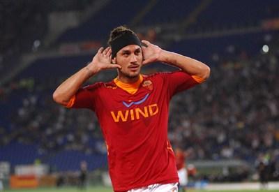 Osvaldo è stato protagonista nella vittoria della Roma (Infophoto)