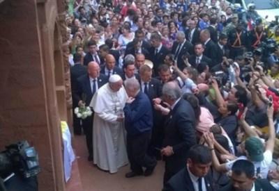 Padre Aldo incontra il papa