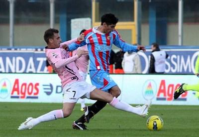 Questa sera il derby di Sicilia, una delle partite più sentite dell'attuale serie A (INFOPHOTO)