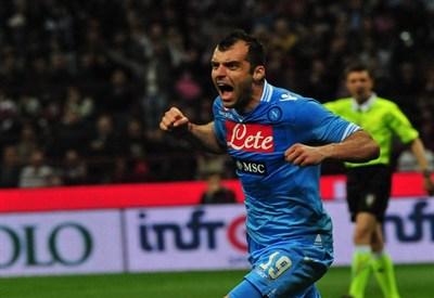 Goran Pandev, attaccante del Napoli (Infophoto)