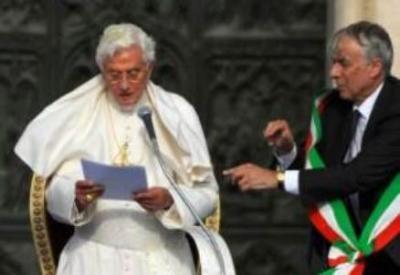 Benedetto XVI e Giuliano Pisapia
