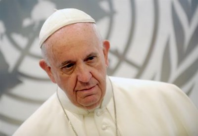 Papa Francesco all'Onu (Infophoto)
