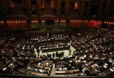 Una seduta parlamentare (Infophoto)