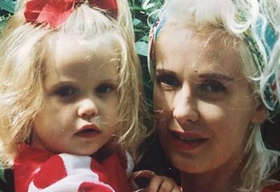 Peaches con la madre Paula