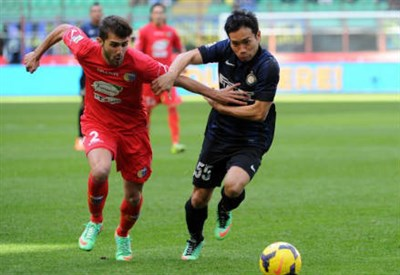 Gino Peruzzi, 22 anni, ha giocato nel Catania la scorsa stagione (Infophoto)