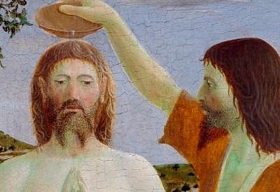 Piero della Francesca, Battesimo di Cristo (1440-60) (Immagine da Wikipedia)