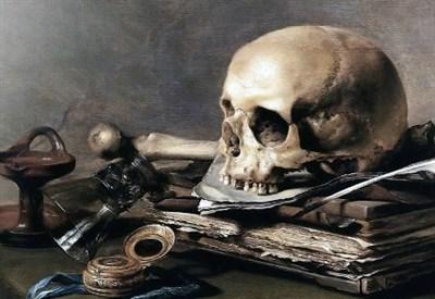 Pieter Claesz, Vanità (particolare; 1630) (Immagine da Wikipedia)