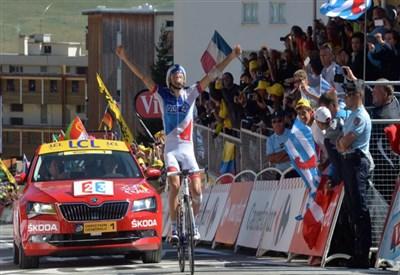 Thibaut Pinot vince all'Alpe d'Huez (da Facebook Le Tour de France)