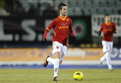 Miralem Pjanic, 22 anni, in gol contro il Rapid Vienna (INFOPHOTO)