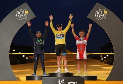 Il podio del Tour 2013 (Infophoto)