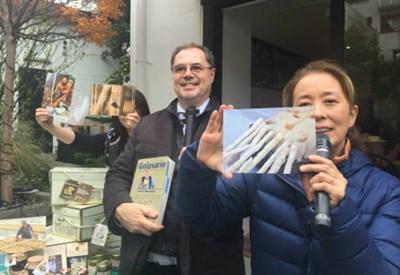 La presentazione dei prodotti italiani alla mini Golosaria con Motoko