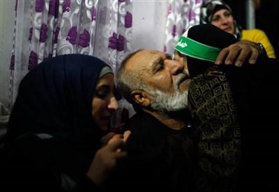 La liberazione di un prigioniero palestinese (Infophoto)