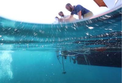 Sperimentazione di comunicazioni acustiche sottomarine (Credits: Marco Merola/Progetto SUNRISE)