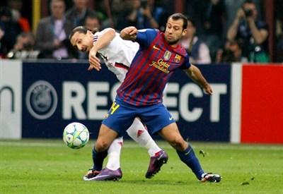 Zlatan Ibrahimovic, 30 anni, impegnato stasera con la sua nuova squadra contro gli ex compagni del Barcellona (INFOPHOTO)