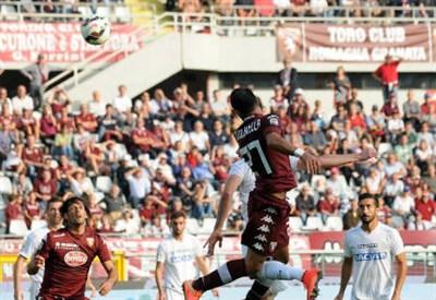 Il gol di Fabio Quagliarella in Torino-Udinese (INFOPHOTO)