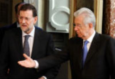 Rajoy e Monti (InfoPhoto)