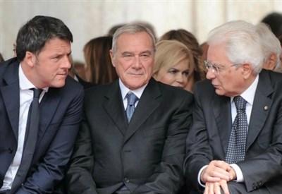 Renzi, Grasso e Mattarella (LaPresse)