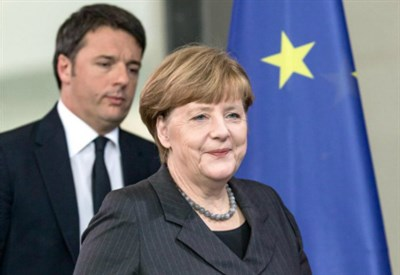 Angela Merkel e Matteo Renzi (LaPresse)
