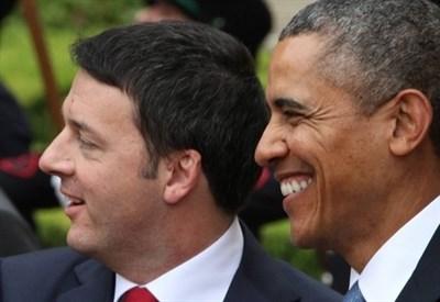 Matteo Renzi e Barack Obama (Infophoto)