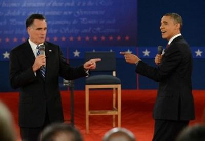 Faccia a faccia Romney-Obama durante la campagna elettorale 2012